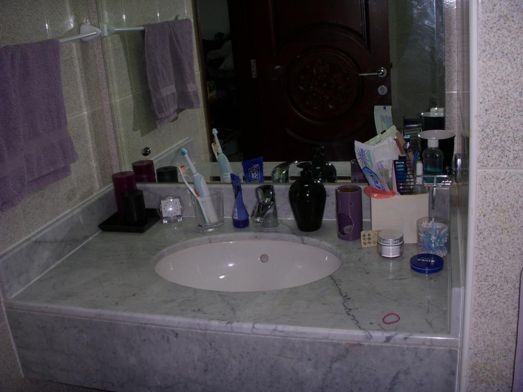 My bathroom purple black theme creative meanderings for Dark purple bathroom ideas